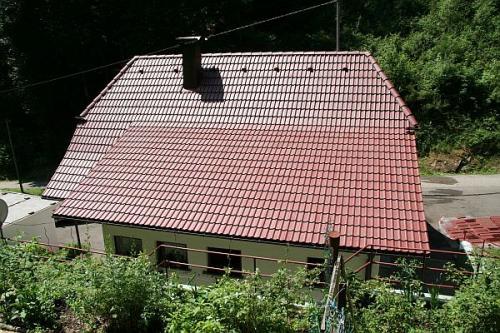 Dach nach der Beschichtung
