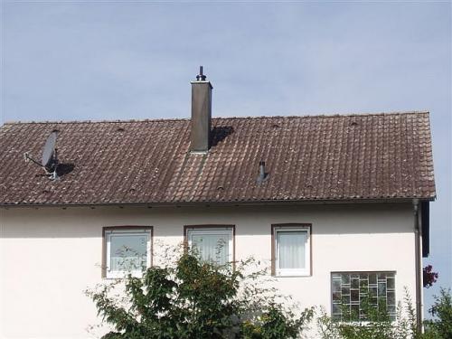 Dach vor der Beschichtung