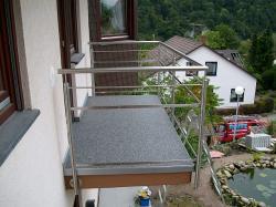 Balkon nach der Sanierung