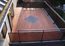 Terrasse nach erfolgreicher Sanierung