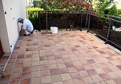 Terrasse vor der Sanierung