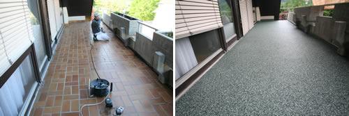 Balkon vorher / nacher