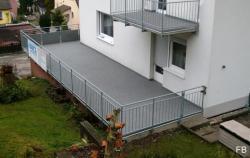 Balkon / Terrasse nach der Sanierung.